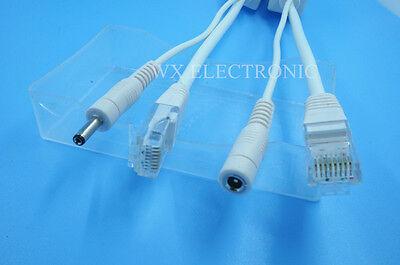 Power over ethernet passive POE injector/splitter for Foscam 1.35X3.5mm