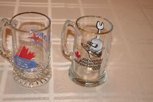 Vintage glass mugs, Abbotsford International Air Show