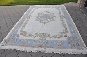 Hand knotted Indian Wool Rug 9 by 14 London Ontario image 1