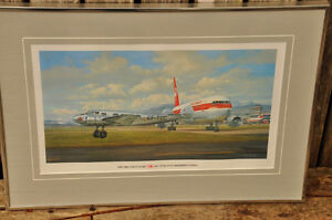 THE FIRST 50 YEARS....TCA and AIR CANADA FRAMED PRINT