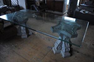 Grande table en vitre pour salle a diner