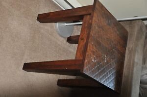 2 solid wood side tables