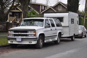 1995 Chevrolet Suburban STARCRAFT + Vintage Trailer REDUCED