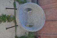 3 wicker patio chairs-$10 each