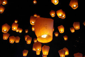 ◄█ Canada Flag Flying Chinese Sky Lanterns for Canada Day █►