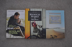 3 Nicholas Spark New york times best seller - hardcover and soft