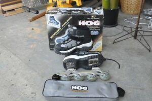 Inline removable roller blades
