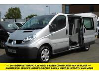 2014 RENAULT TRAFIC SL27 115DCI L1H1 SWB 6 SEATER COMBI CREW VAN IN SILVER WITH
