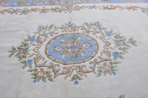 Hand knotted Indian Wool Rug 9 by 14 London Ontario image 4