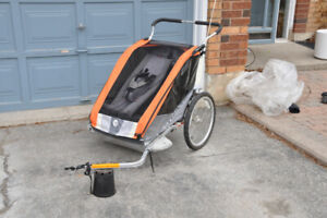 Thule Chariot Double Bike and Jogging Stroller