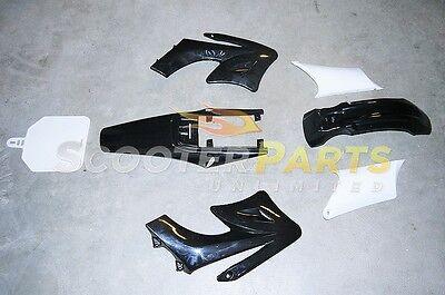 Apollo Dirt Pit Bike Fairings Plastic Body Parts Black 110cc 125cc 140cc 150cc