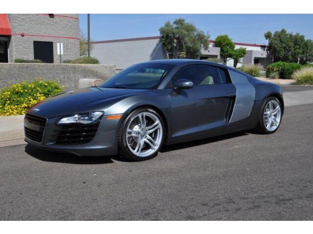 Audi : R8 2dr Cpe 4.2L 2dr Cpe 4.2L NAV, Camera,  B&O, 6 Speed Only 8K miles Daytona Grey / Tan