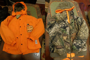 NEW! NEUF! MOSSY OAK 4 IN 1 HUNTING JACKET de chasse 4 en 1 (M)