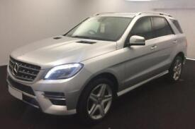 2015 SILVER MERCEDES ML250 2.1 CDI AMG LINE DIESEL AUTO CAR FINANCE FROM 79 P/W