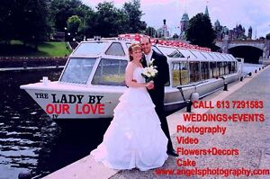 WEDDING+ EVENT PHOTOGRAPHY&DECOR& D J. from $199 at 613 729 1583