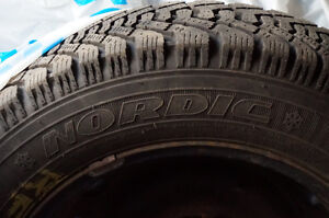 Set of 4 Nordic P175/65R14 tires