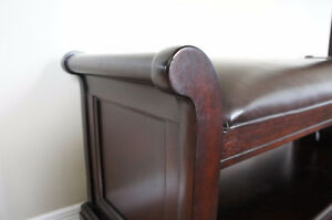 Solid Hardwood Bench with Top Grain Leather Kitchener / Waterloo Kitchener Area image 3