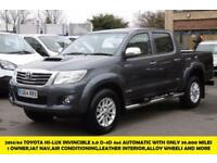 2014 TOYOTA HI-LUX INVINCIBLE 4X4 3.0 D-4D DCB AUTOMATIC IN GREY WITH ONLY 39.00