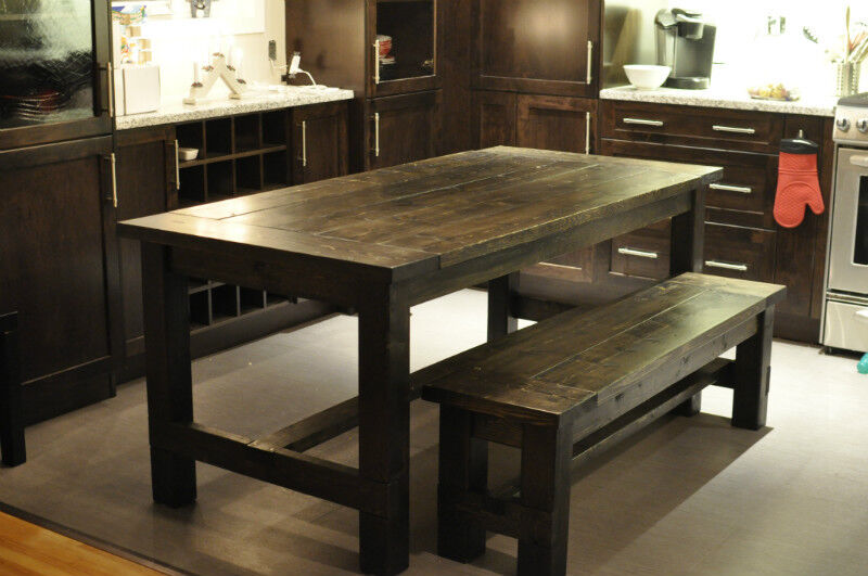 Rustic Farmhouse Style Dining Tables 34 5 X 72 With Bench Dining Tabl