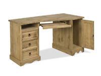 Solid Pine Corner Computer Desk