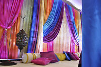 Wedding and reception decor (including mandap and chuppah)