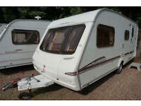 LOVELY 2005 SWIFT CHARISMA 560 4 BERTH CARAVAN - SIDE DINETTE - END WASH