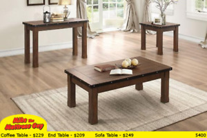 MULTI-FUNCTIONAL COFFEE TABLES - LOTS OF STYLES AT MIKES!