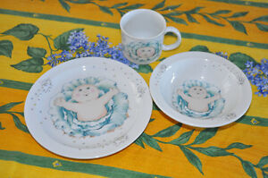 1st Edition Cabbage Patch Dishes Made in England 1984