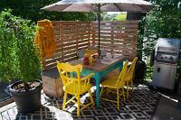 4 1/2 rdc avec superbe terrasse dans Villeray, chauffé