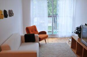 3 1/2 meublé a Rosemont, pour 18 mai, wi-fi, cable inclus.