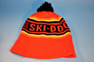 Vintage Classic SKI DOO snowmobile knitted toque winter hat