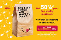 ️50% OFF First Weekly Meal Plan