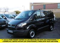 2014 FORD TRANSIT CUSTOM 270 L1H1 SWB DIESEL VAN IN BLACK WITH AIR CONDITIONING,