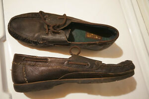 Eirland Leather deck shoes 14 M brown.