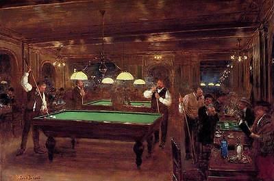 Ölbilder Ölgemälde Gemälde  Le Billard.53x80cm
