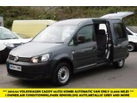 2014 VOLKSWAGEN CADDY MAXI C20 1.6 TDI 102 AUTOMATIC DSG KOMBI 5 SEAT WITH AIR C