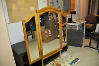 Mirror with Solid Oak Frame