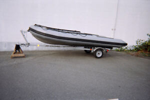 17 Foot Aluminum Inflatable Boat For Sale
