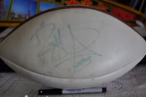 SIGNED NFL FOOTBALL BY PINBALL CLEMONS