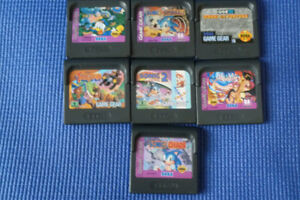 7  JEUX  GAME  GEAR  SEGA