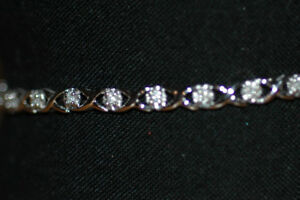 Get ready for Christmas - White Gold and Diamond Tennis Bracelet