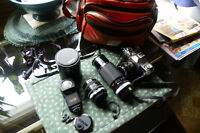 Cannon AV-1 with 2 lens and a Camera Bag