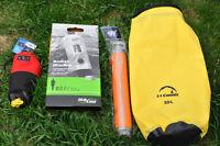 Accessoires pour kayak:Pompe, Sac a corde, Sacs étanche 20litres