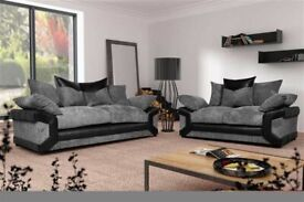 Low Prices And Best Quality-DINO JUMBO CORD FABRIC CORNER SOFA SUITE-3 and 2 SEATER