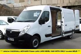 2015 VAUXHALL MOVANO F3500 L3H2 LWB CDTI DIESEL VAN WITH ONLY 24.000 MILES FROM