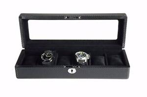 Luxury wooden watch box carbon fiber with extra size pillow Auburn Auburn Area Preview