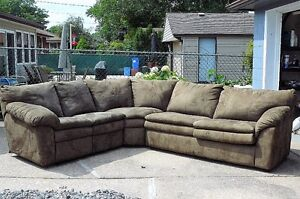 Micro suede sectional
