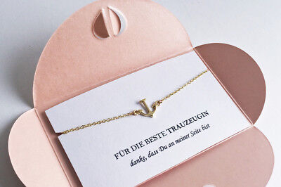 Trauzeugin Geschenk ❤️ Anker Armband GOLD