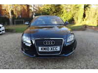 2010 Audi A3 2.0TDI Sportback S Line 170 BHP 6 SPEED FSH 60 MPG CHEAP TAX SATNAV