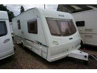 2003 LUNAR DELTA 520-2 VERY SPACIOUS 2 BERTH CARAVAN - END WASHROOM -